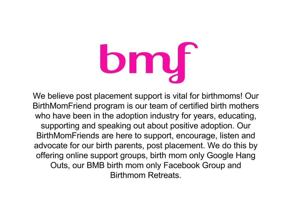 Birth Mother Friend (BMF)